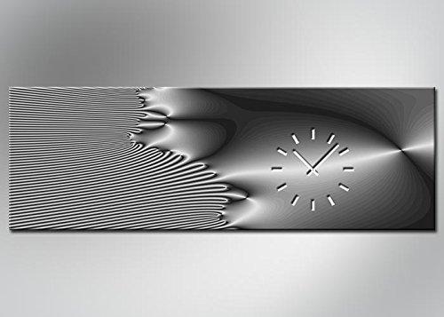 4331 Dixtime Designer Wanduhr, Wanduhren, Moderne Bürouhr 50cm x 150cm | Modern -Durch den hochauflösenden Digitaldruck besticht der Druck mit feinen Details und klaren Farben | geräuschlose Wanduhr