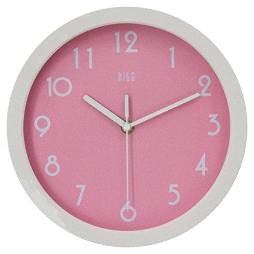 HITO moderne bunte Stille Nicht-tickende Wanduhr | Modern | Pink |
