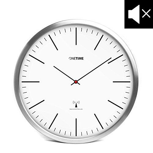 ONETIME Weiße Funkwanduhr | Weiß |