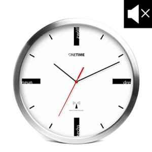 ONETIME MNU 5200 Designer Funkwanduhr aus Aluminium mit LAUTLOSEM SWEEP Uhrwerk  |