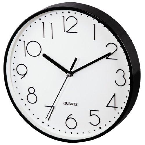 Hama Wanduhr ohne Ticken PG-220 | Modern | schwarz | großes Ziffernblatt
