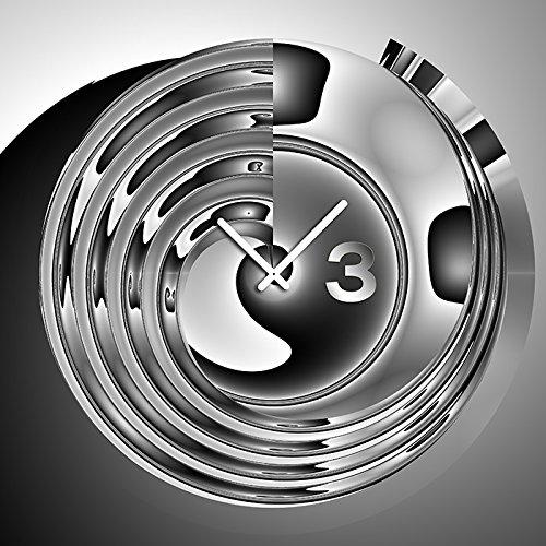 6034 Dixtime Designer Wanduhr, Wanduhren, Moderne Bürouhr 70cm x 70cm | Modern | geräuschlose Wanduhr