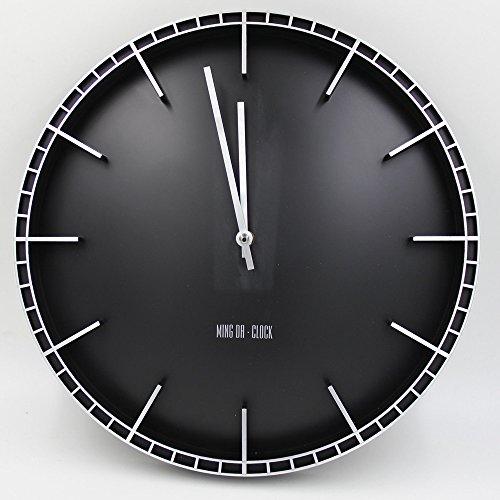 Große Wanduhr ohne Tickgeräusche | schwarz |
