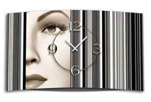 Digital Art Frau Designer Wanduhr ohne Ticken DIXTIME 3D-0318