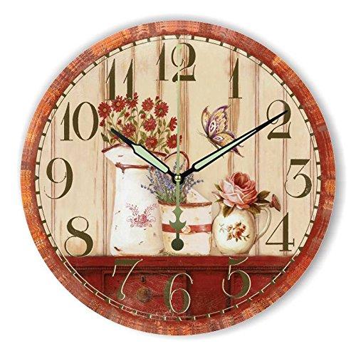 Damjic Dekorative Wanduhr Uhr | Retro |